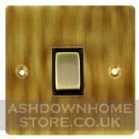 Flat Plate Antique Bronze Rocker Light Switches